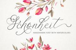 Schonheit font & watercolors. Product Image 1