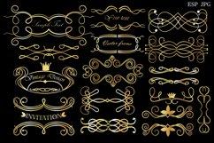 Set of decorative elements and frames. Vintage. Product Image 3