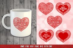 Heart SVG,Happy Valentines Day,Floral Heart,Heart Papercut Product Image 4