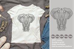 Ethnic Indian Elephant T-shirt Illustration SVG File Product Image 1