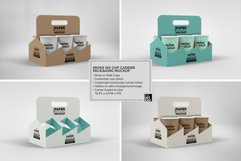Paper Six Cup Carrier/Holder Packaging Mockup Product Image 4