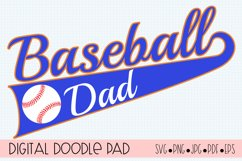 Baseball Dad SVG   Silhouette and Cricut Cut File Product Image 1