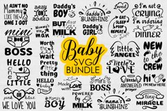 Baby SVG Bundle, Baby Onesie Funny Quote SVG cut files Product Image 1