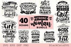 Strong woman SVG bundle 40 designs Product Image 3