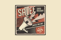 Retro Sale Discount Poster and Badge Product Image 3