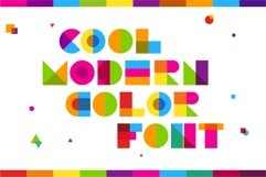 Garis Lengkung - Color Font Product Image 2