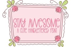 Web Font Stay Awesome - A Cute Hand-Lettered Font Product Image 1