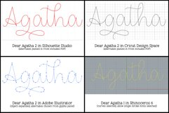 Dear Agatha - a single-line hairline pen & quill font duo! Product Image 3