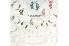 Tropical Foliage Watercolor Set Product Image 19