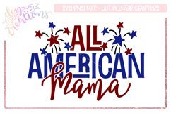 All American Mama - 4th of July Design Product Image 1