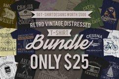 50 Retro Vintage T-Shirt Designs Product Image 1