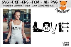 Love Fitness Exercise SVG Product Image 1