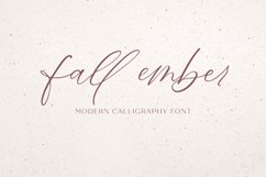 Fall Ember Calligraphy Script Font Product Image 1