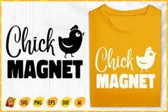 Chick Magnet SVG - Easter SVG - Easter Chick SVG - Chick SVG Product Image 1