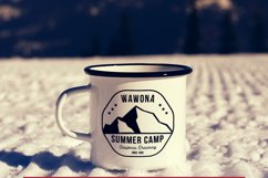 Summer Camp Logo Template, Retro California Badge SVG File Product Image 4