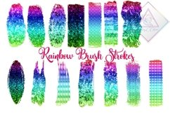 Ombre Rainbow Brush Strokes Clipart Product Image 1