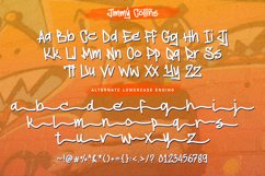 Jimmy Collins - Monoline Tagging Font Product Image 9