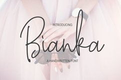 Bianka Script Font Product Image 1