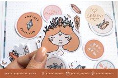Gemstone Printable Stickers   Cricut Design Sticker Sheet Product Image 6