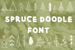 Spruce doodle font in ttf, otf Product Image 1