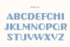 Stitch it up a bold cross-stitch sans serif font Product Image 6