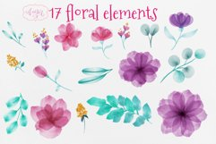 Watercolor fairy clipart for invitations, magical clipart Product Image 6