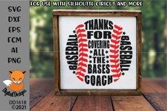 Baseball Coach Thank you SVG - Silhouette - Cricut Product Image 1