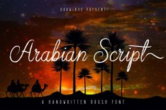 Arabian Script   Brush Font Product Image 1