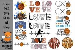 Basketball Bundle 16 SVG for Silhouette, Cricut, Scan N Cut Product Image 1