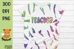 Teacher Design & Full sheet Pattern for Tie Dye Sublimation Product Image 1