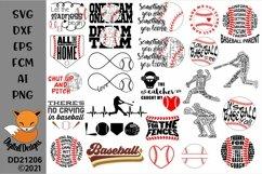 Baseball Bundle 24 SVG for Silhouette, Cricut, Scan N Cut Product Image 1