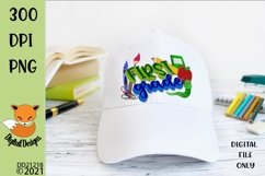 Back to School First Grade Sublimation Design Product Image 1
