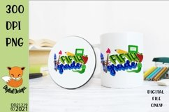 Back to School Fifth Grade Sublimation Design Product Image 1