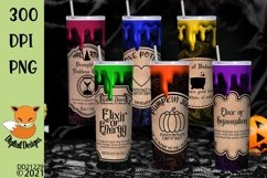 Magic Potion Halloween Tumbler Sublimation Bundle Product Image 1