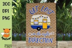 Get Lost In The Right Direction Camping Flag Sublimation Product Image 1