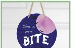 Halloween Welcome Sublimation Design for Flag & Round Signs Product Image 2