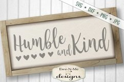 Humble and Kind - Hearts - SVG DXF Files Product Image 1