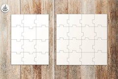 Puzzle Jigsaw SVG Templates Bundle - Classic, Heart, Unusual Product Image 4