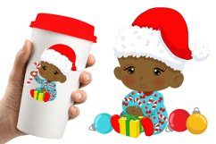 BABY'S FIRST CHRISTMAS CLIPART - AFRICAN AMERICAN BABY Product Image 3
