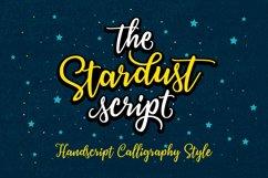 Stardust Script Product Image 1