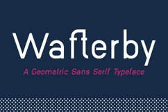 Wafterby Geometric Sans Serif Typeface Product Image 1