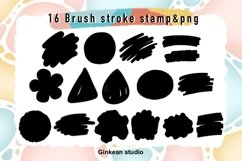 Paint brush stroke stamp , brush stroke stamp, keychain png Product Image 4