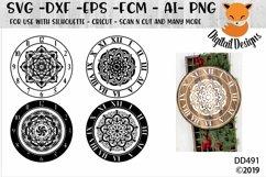 Mandala Clock Bundle SVG - Silhouette - Cricut - Scan N Cut Product Image 2