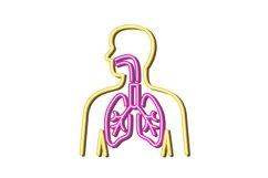 Human Respiratory System Neon Retro Product Image 1