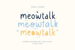 Web Font - Meowtalk Product Image 1