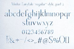Winter Fairytale-SVG monogram and regular font in two styles Product Image 5