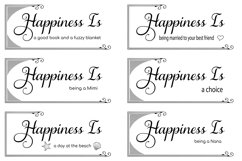 The Happiness Sign Bundle Svg Cut Files Product Image 4