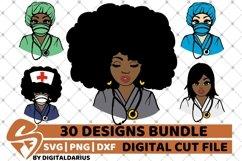 30x Amazing Nurse Bundle svg, Healthcare svg, Black History Product Image 3