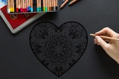 Decorated Hearts Silhouettes, Valentines svg, Mandala Product Image 5