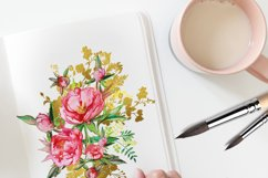 Peony and Gold leaf Product Image 6